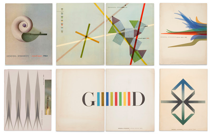 Erik Nitsche - General Dynamics Annual Report Covers