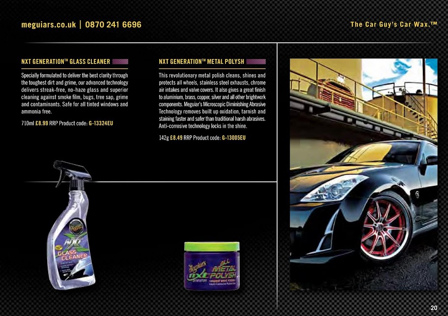Club323F • View topic - Meguiars Product Guide 2011 - sticky me