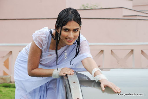 Gowri Pandit Wet Saree Exposing Stills