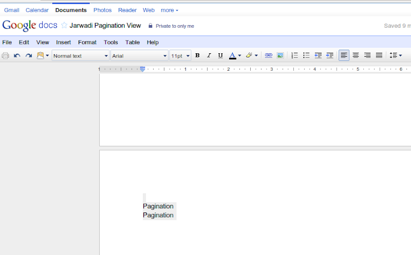 Pagination : New feature on Google Doc
