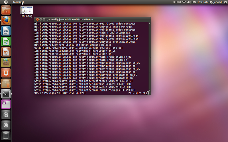 Natty Narwhall with Unity Desktop Manager