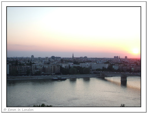 Novi Sad at Sunset over the Dunav River
