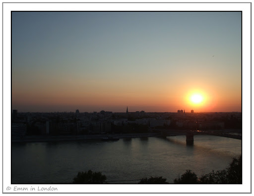 A Blazing Sunset over the River Danube