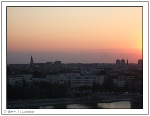 Novi Sad at Sunset from the Petrovaradin Fortress
