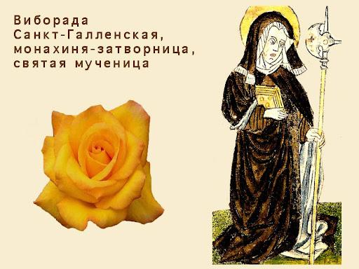 Виборада Санкт-Галленская. Изображение: Википедия, от Санкт-Галленского Кодекса 586 года, стр. 230. Свободная лицензия