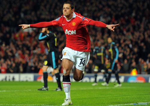 Javier Hernandez , Manchester United - Olympique Marseille
