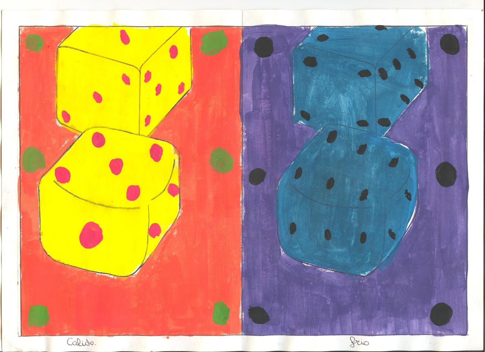 Estrellas Del Arte.: SESIÓN 1: COLORES FRÍOS Y CÁLIDOS