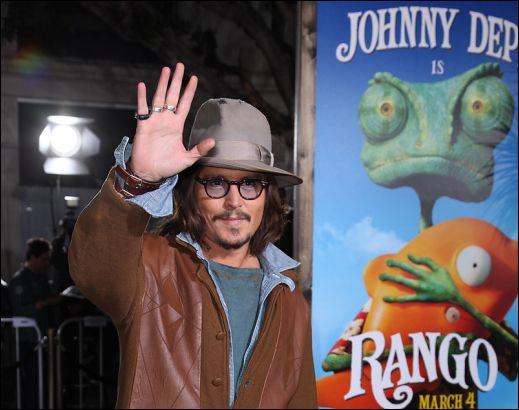 Johnny Depp Rango Premiere