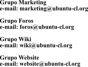 email contacto ubuntu-cl