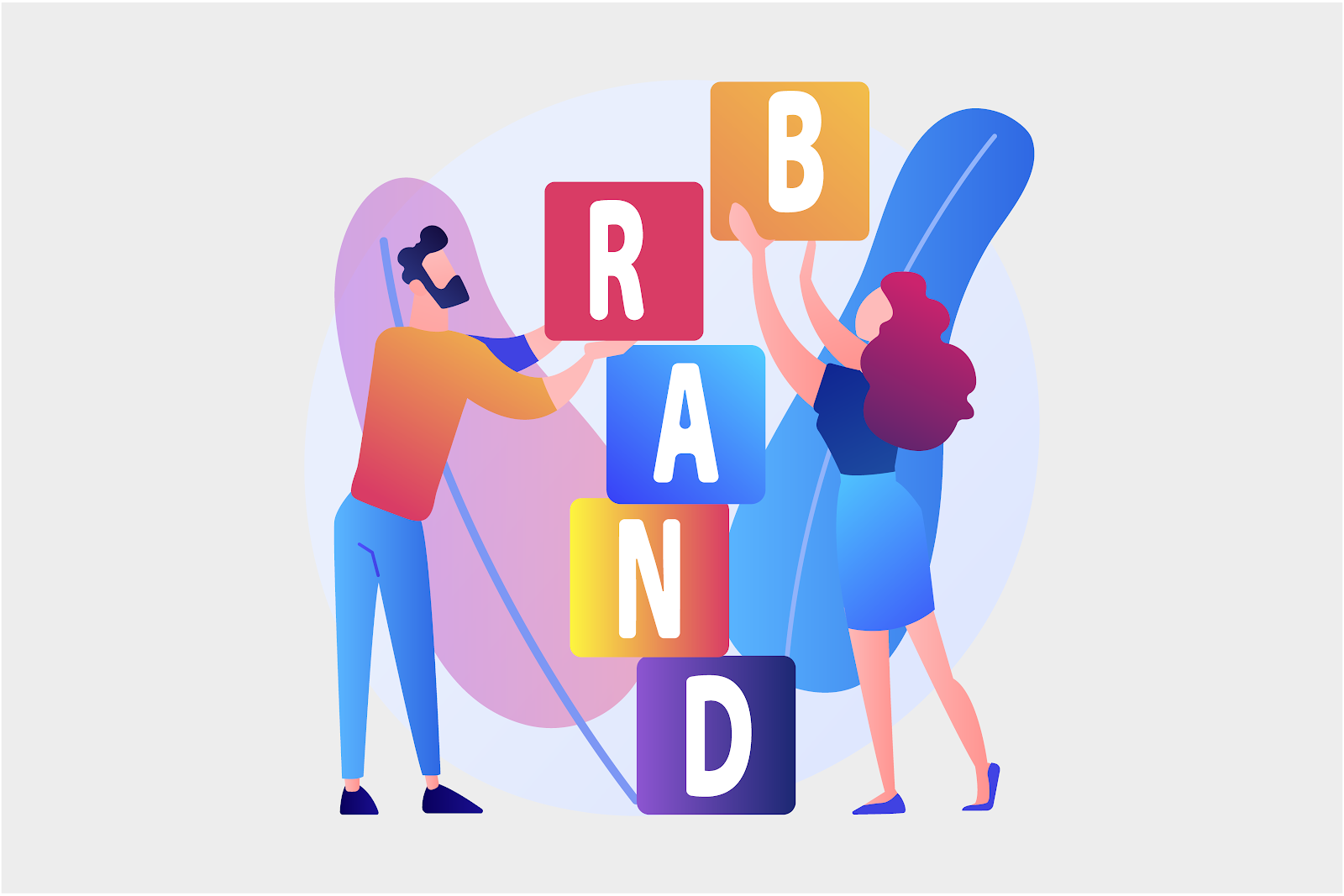 Team working together to build a brand. Image from Freepik