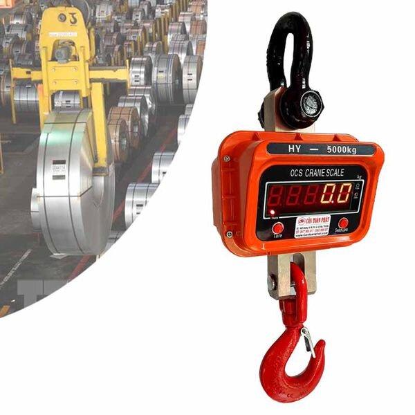 Cân treo điện tử là loại cân có thể cân được hàng hóa có trọng lượng lớn