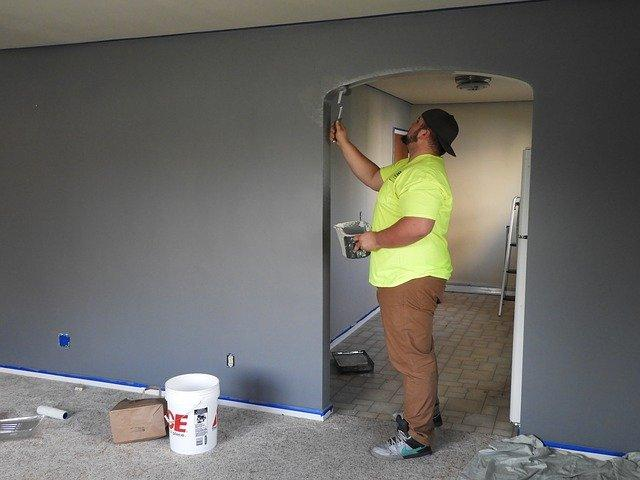 Painting the walls.