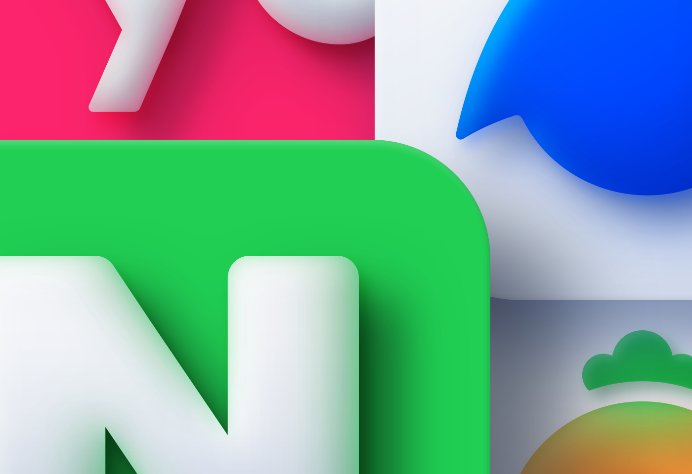 Neumorphism icons inspired by macOS Big Sur