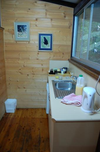 ビナブラマウンテンロッジの炊事場の写真