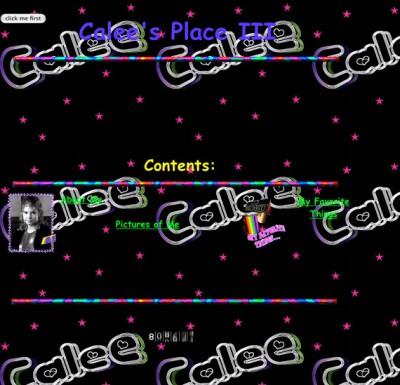 Calee Himes - Четвёртое место среди веб-сайтов по уродливости дизайна