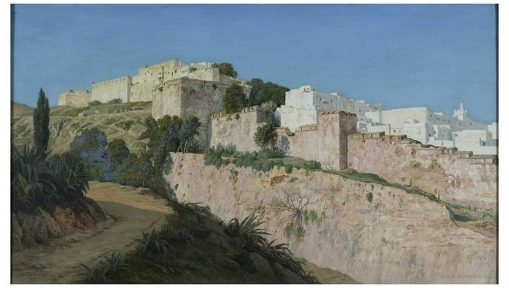 Arthur Ditchfield, The Casbah and the Ravine of the Centaur, Algiers (1873), at the <a href='http://collections.vam.ac.uk/item/O125738/oil-painting-the-casbah-and-the-ravine/'>V&A</a>