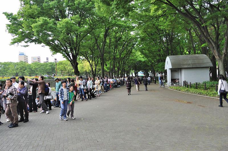その後に並んだ人々の列の写真