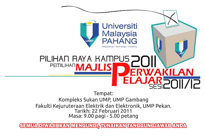 Poster Pemilihan Majlis Perwakilan Pelajar UMP 2011