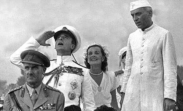 Old India Photos - Mountbatten with Jawaharlal Nehru