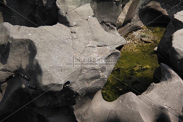 Rocks of potholes
