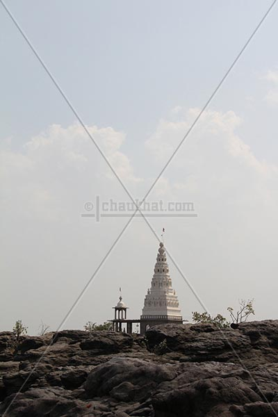 Temple above potholes