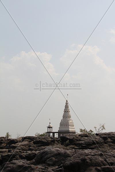 Temple above potholes