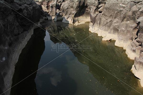 Water left in potholes