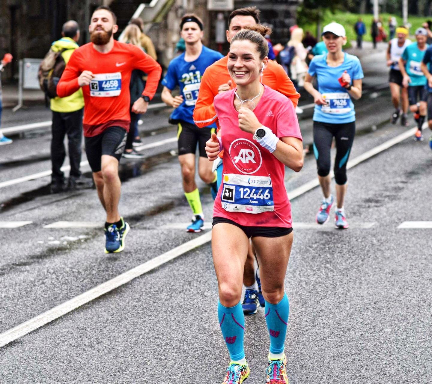 Biegacz maraton Anna Żłak