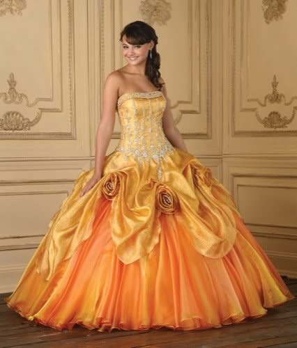 Ballkleider Abendkleider : Brautkleid Ballkleid Adelind in Orange ...