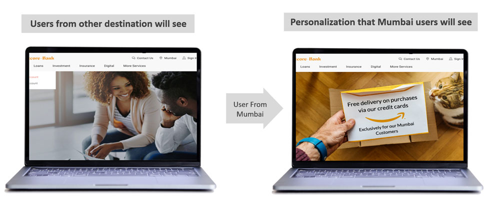 IP-based location tracking personalization