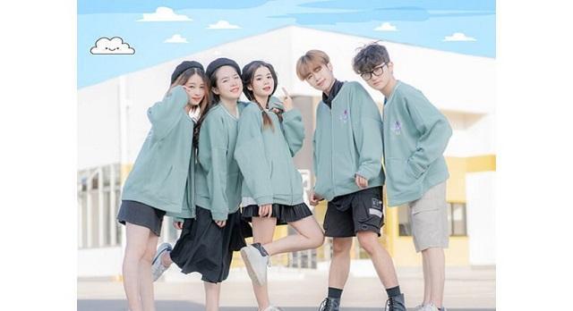 Áo lớp đồng phục mùa đông Bomer