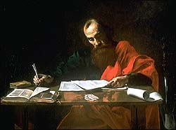 St. Paul writing his letters