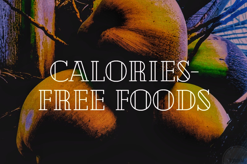 Image of coconuts as a calories free food.