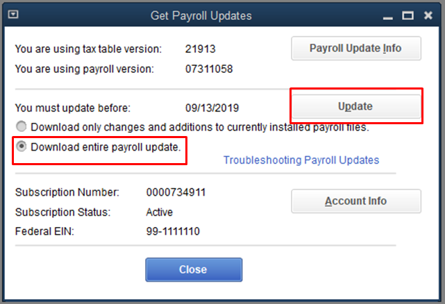 Download Payroll update