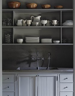 Friday delights: charcoal gray cabinets
