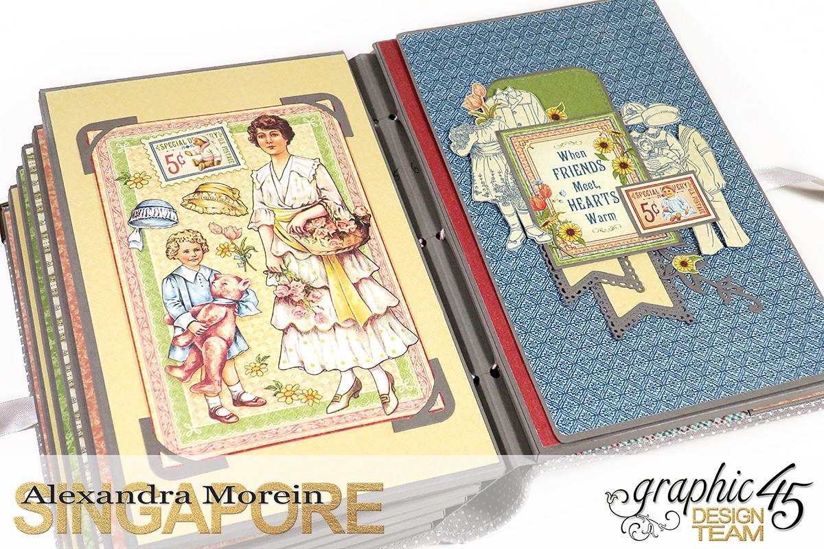 Paper Doll Play Set and Mini Album, Penny's Family Paper Doll, Tutorial by Alexandra Morein, Product by Graphic 45, Photo 17.jpg
