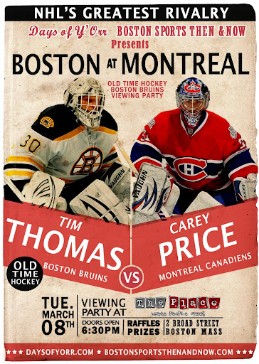 Boston Bruins vs. Montreal Canadens -- Tim Thomas vs. Carey Price