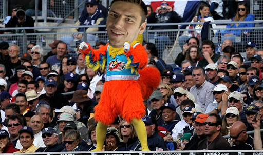 Milan Lucic Chicken Costume