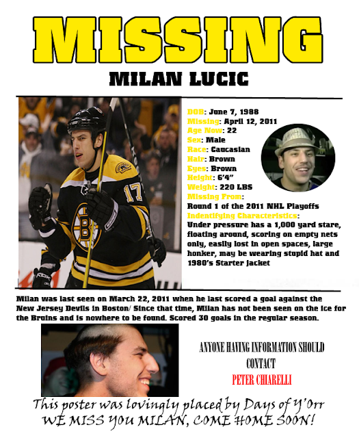 missing lucic
