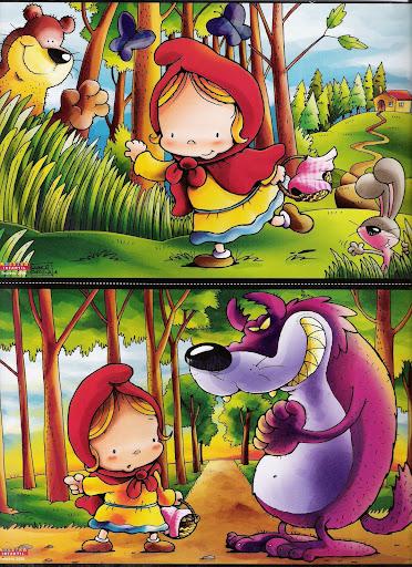 caperucita1 Caperucita Roja y el Lobo feroz, cuento en ilustraciones