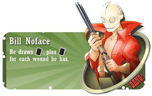 Bill Noface BANG! card game character