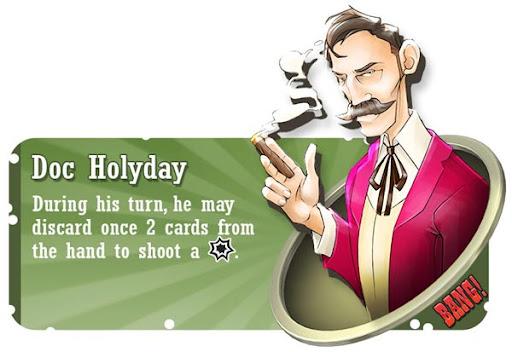 Doc Holyday BANG! card game character