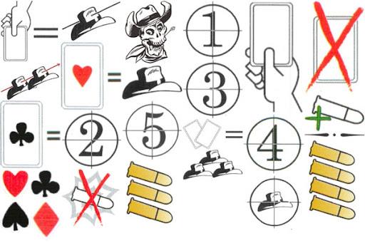 BANG! Card Game Symbol Examples