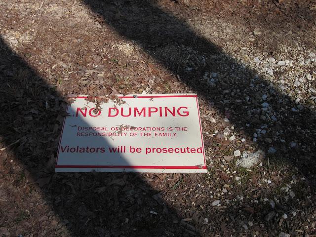 No dumping.