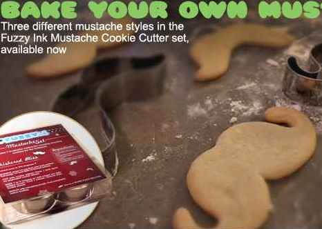 moustache shaped cookie cutters