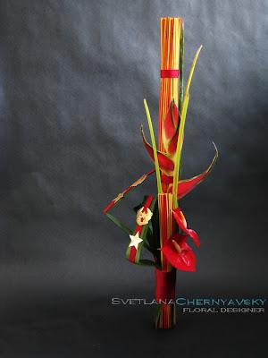 основы флористики, вертикальный мужской букет, букет 23 февраля