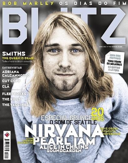 Kurt Cobain na capa da portuguesa Blitz