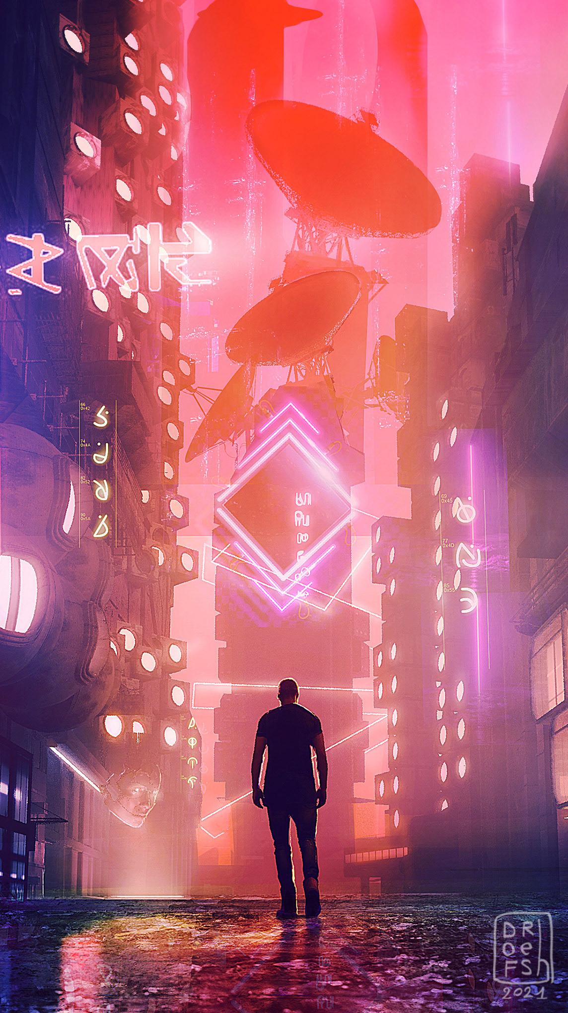 Bladerunner cityscape conceptart futuristic Landscape Sciencefiction Scifi skyline Street town