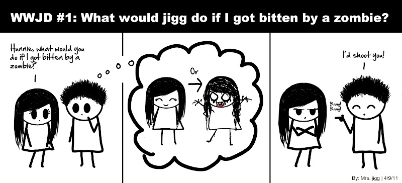 WWJD #1: What would jigg do if I got bitten by a zombie?