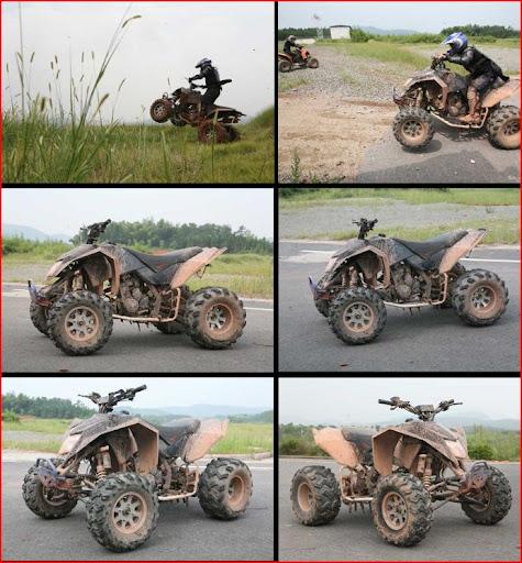 300cc Mad Max EGL Race Quad Bike in mud